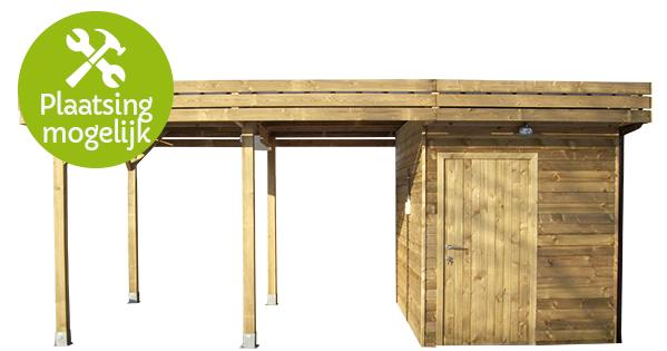 Stevige houten carports met of zonder berging - Tuinhoutcentrum \'t Goor