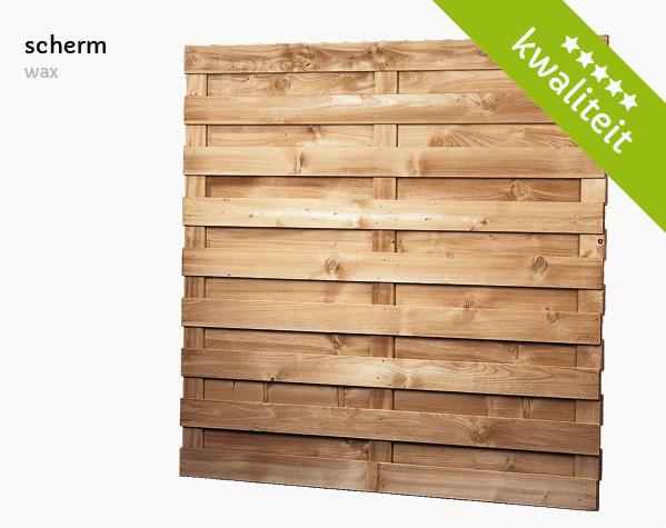 houten scherm wax t Goor