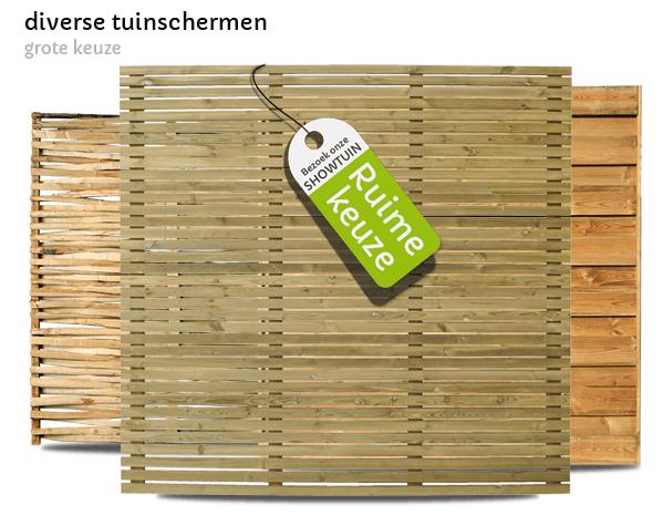 houten tuinschermen t Goor