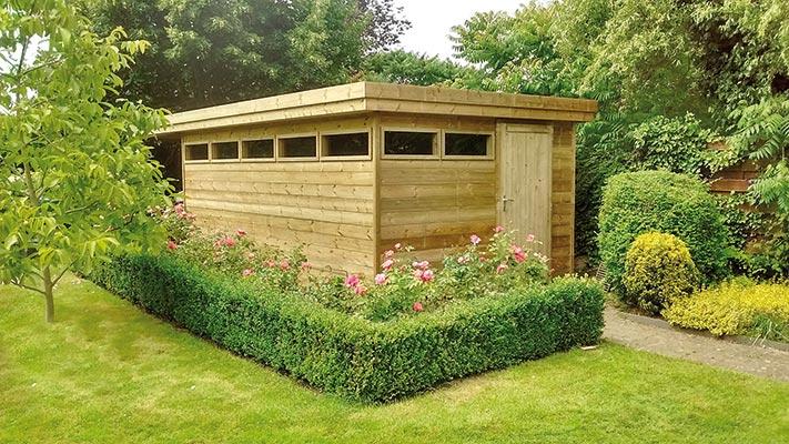 tuinhuis plat dak 4 t Goor