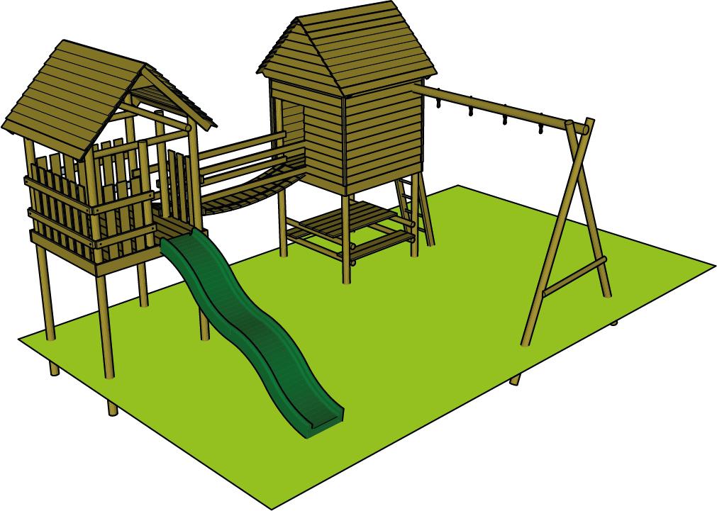 speeltoren hout