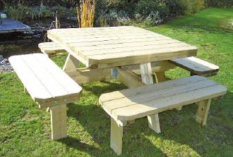 picknicktafel vierkant
