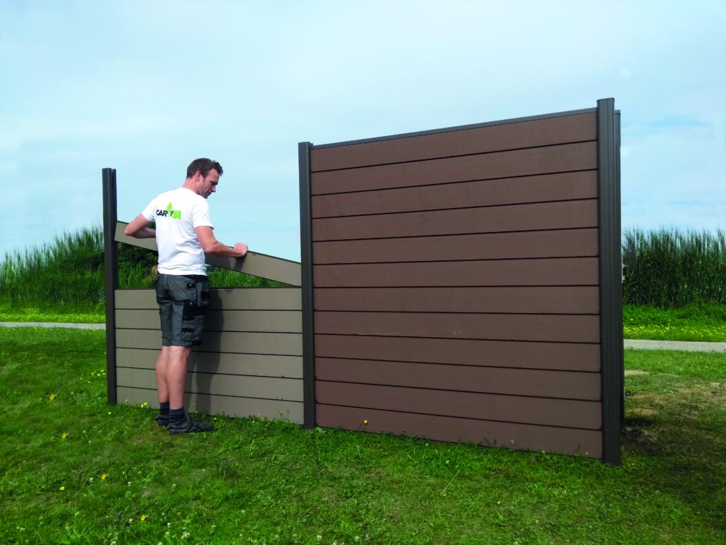 opbouw scherm houtcomposiet