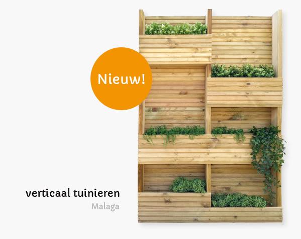 plantenscherm hout