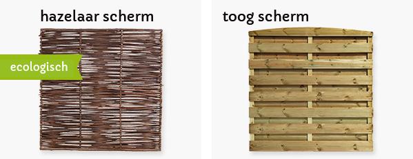 tuinscherm hout